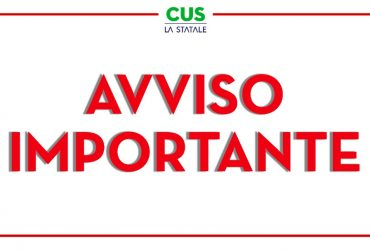 CUS Statale: tutti i CUS Point chiusi fino al 22 Novembre